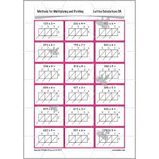 Methods for Multiplying and Dividing: The Lattice Method