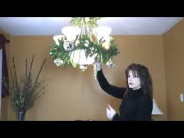 how to decorate a chandelier light fixture for part 2