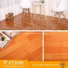 indoor wood look roll pvc flooring felt back vinyl floor mat image