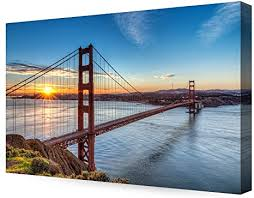 Then, it is perfect gift for you! Amazon Com Decorarts Golden Gate Bridge San Francisco Califonia Giclee Canvas Prints For Wall Decor 36x24 Posters Prints
