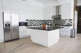 interior of modern kitchen in loft apartment