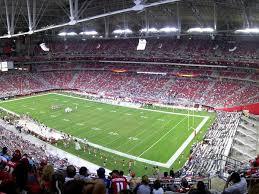 Seating Chart Arizona Cardinals Stadium Arizona Cardinals Seating Chart Map Seatgeek