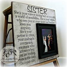 personalized picture frames awesome sister picture frame personalized bridesmaid gift best