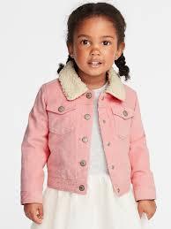 sherpa lined corduroy trucker jacket for toddler girls