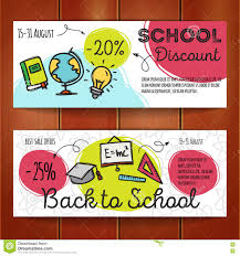 gift voucher market offer template layout colorful modern vector set of discount coupons for stationary accessories colorful doodle style voucher templates back