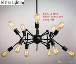 edison style lighting fixtures. Edison Chandelier Light Pendant Lamp Spider Vintage Wrought Iron Loft Style Lighting Fixture Fixtures