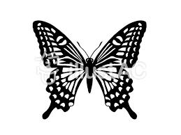 アゲハ蝶のシルエットイラスト No 1366567無料イラストなら