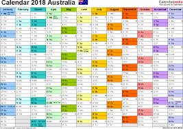 template 1 2018 calendar australia for pdf 1 page months horizontally each