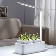 Flower Pot Light Automatic Water Absorbing Irrigation Flower Pot Light Plant Lamp Indoor Decor