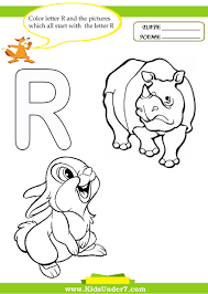 Kids Under 7 Letter R Worksheets And Coloring Pages – Pilular ...