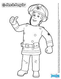 Coloriages Sam Le Pompier Imprimer Fr Hellokids Com