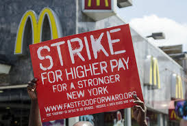 Fast Food Workers Walk Off Job to Protest Low Wages
