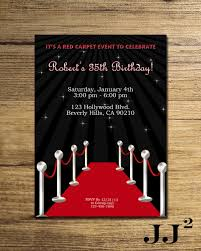 hollywood 21st birthday invitations red carpet birthday party invitation glam hollywood