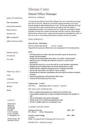 Dental Resume Samples Dental Office Manager Resume Example Sample