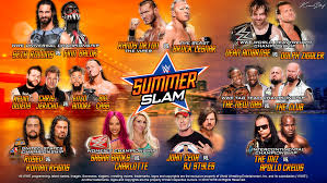 wwe summerslam 2016 matchcard wallpaper by kevstif
