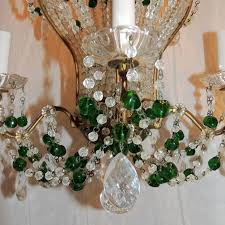 wonderful pair emerald green beaded crystal hot air balloon chandelier fixtures for 2