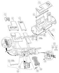 2004 2007 club car precedent gas or electric club car parts Club Car Lighting Diagram pedal group components electric club car lighting wiring diagram