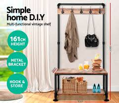 diy pinewood pipe clothing rack clothing clothing stand multifunction garment coat rack shoes storage rack in wind chimes hanging