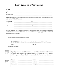 It's only an example and is not to be assumed legally binding or valid in all 50 states or in other countries. Free 10 Sample Will Forms In Pdf Ms Word