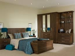 Modern Bedroom Design Stockport - Black and walnut bedroom furniture