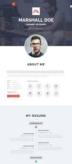Resume Template Word 45 Best Html Resume Cv Vcard Templates Free