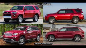 2015 Toyota 4Runner VS 2015 JEEP Grand Cherokee & DESIGN! - YouTube