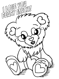 Small Picture Free Printable Valentines Day Coloring Pages Crafty Morning