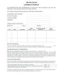 Catering Contract Samples Catering Agreement Sample Unique Contract Form Templates
