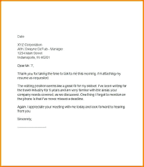 Thank You Letter After Interview Template Email Buildingcontractor Co