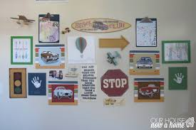 boy bedroom gallery wall some diy projects and a giveaway