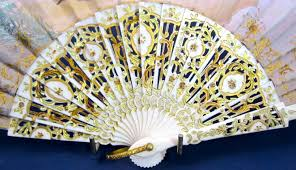 french hand fan. antique signed french hand painted fan - picture 7