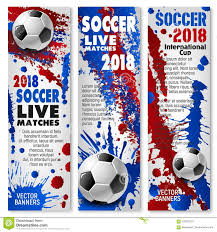 soccer team brochure template football sport match banner with soccer ball stock vector
