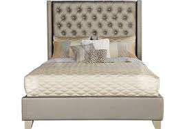 Sofia Vergara Paris Silver 3 Pc Upholstered King Bed Sofia Vergara Furniture83