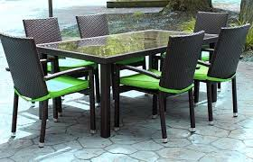 brown patio tables patio ideas medium size lime green patio chair cushions piece black resin wicker outdoor table set