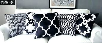 black and white striped pillow cover modern cushion patterned covers outdoor pillows