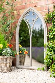 garden mirror.  Mirror Church Style Garden Mirror To O
