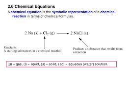 2 6 chemical equations