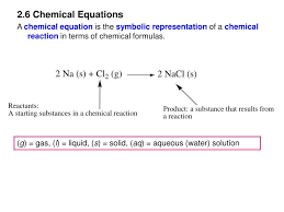 2 6 chemical equations