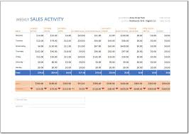 Weekly Sales Activity Report Template For Excel Word