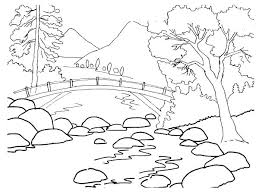 Coloring Pages Nature Coloring Pages Nature Scenes Page With