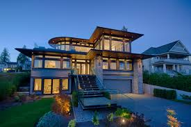 ... Home Decor, Modern Home Styles American House Styles With Staircase In  The Front And Natural ...