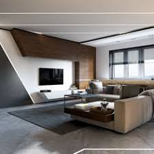 contemporary living room design. sleek contemporary living room. concrete and wood is a nice mix. #modern # room design l