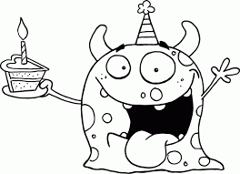 Small Picture Birthday Cake Coloring Pages For Kids Coloring Home