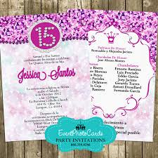 Invitations Quinceanera Fuchsia Purple Princess Quinceanera Invitations Mis Quince