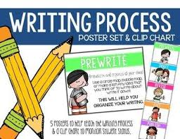 Writing Process Clip Chart Writing Process Poster Set And Clip Chart