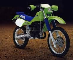 kawasaki kdx200 chassis based on 1983 kx125 steel tubing box section aluminum swingarm adjustable damping aluminum shock 38mm kayaba forks electronic odometer