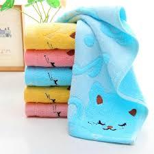 Designer Bath Towels Exquisite Design Non Twisted Bamboo Fiber Music Cat Baby