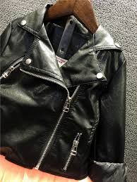 spring autumn trendy baby girls leather jacket super cute child toddler girl heart shape back pu