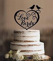 Love Birds In Heart Wedding Cake Topper Romantic Wedding Cake