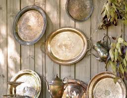 Decorating With Silver Trays 100 Fantastic Ideas For Decorating Your Garden Fence 61